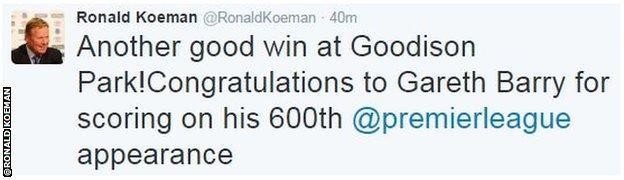 Ronald Koeman twitter