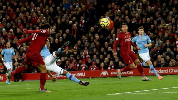 Mo Salah scores against Manchester City