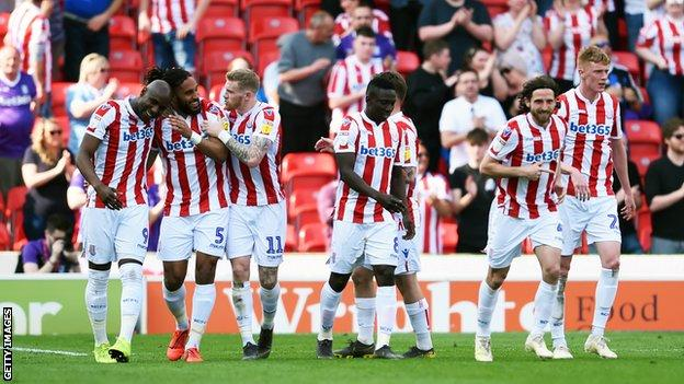 Ashley Williams scored Stoke's first equaliser at the start of the second half.