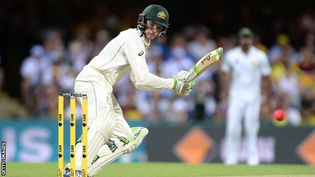 Peter Handscomb made 105 and 35 not out in the day-night Test against Pakistan in Brisbane in December