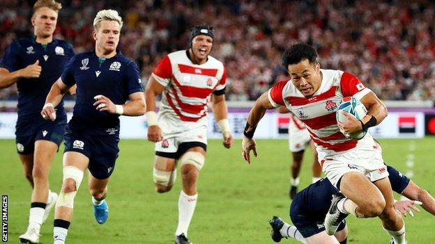 Scotland lost to Japan in a match that had been under threat due to extreme weather