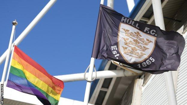 Pride flag flown at KCOM Stadium
