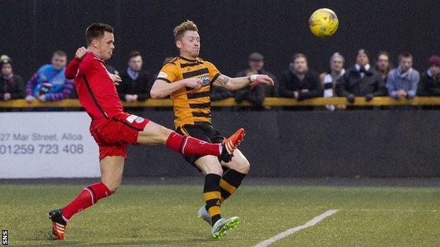 Lawrence Shankland scores for St Mirren against Alloa Athletic