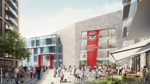 The main entrance to the new stadium