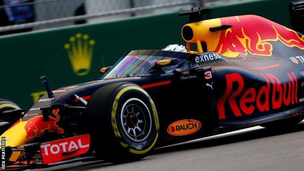 Red Bull's Daniel Ricciardo tests the aeroscreen
