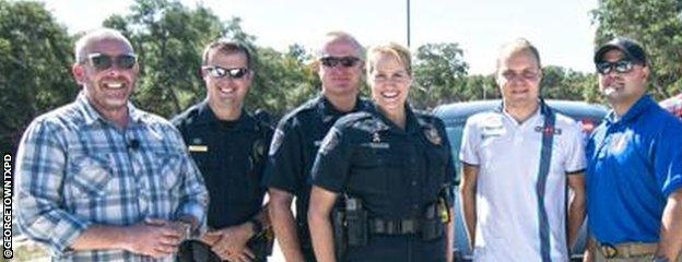 Valtteri Bottas and the Georgetown, Texas Police Department