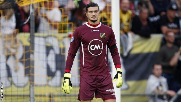 Aro Muric playing for NAC Breda