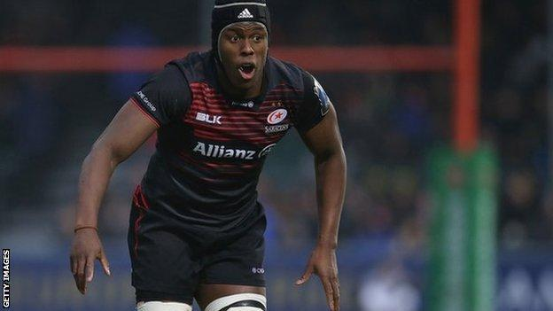 Maro Itoje in action for England