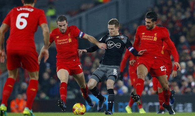 Liverpool midfielders Jordan Henderson and Emre Can