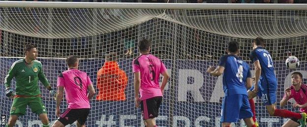 Laurent Koscielny scores for France against Scotland