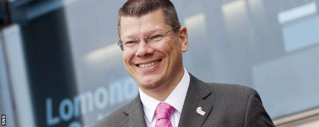 SPFL chief executive Neil Doncaster at Hampden