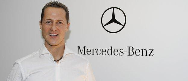 Former Mercedes F1 driver Michael Schumacher