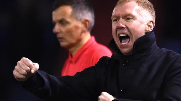 Oldham Athletic 4-1 Yeovil Town: Paul Scholes wins first game as manager thumbnail