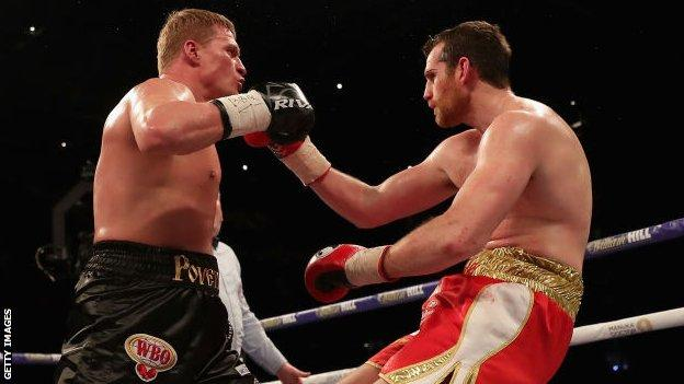 Povetkin (left) knocked out David Price in Cardiff in March