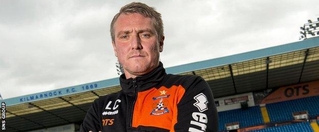 Kilmarnock manager Lee Clark