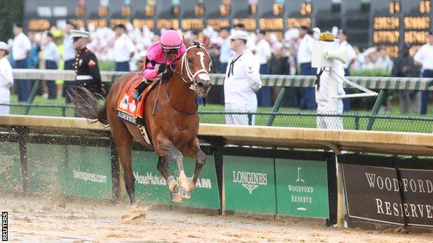 Maximum Security was first past the post in the Kentucky Derby