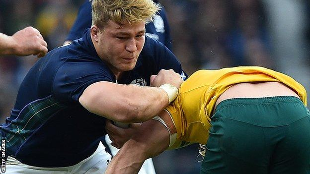 Number 8 David Denton is part of Scotland's Six Nations squad
