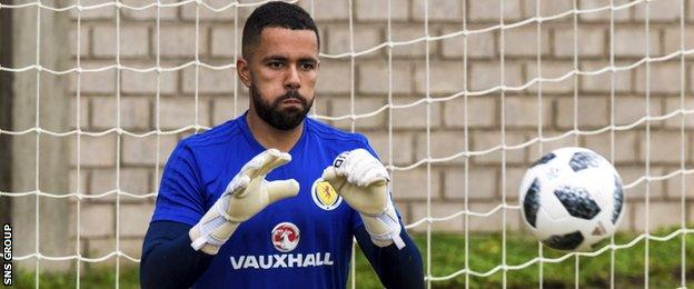 Jordan Archer is one of the three uncapped goalkeepers in the Scotland squad