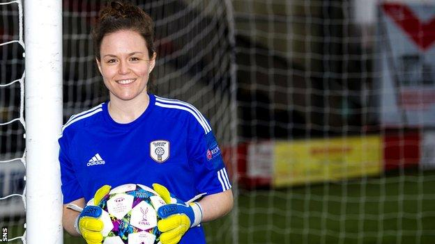 Glasgow City goalkeeper Lee Alexander