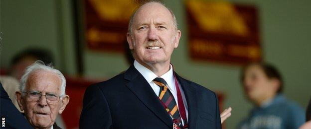 Motherwell owner Les Hutchison