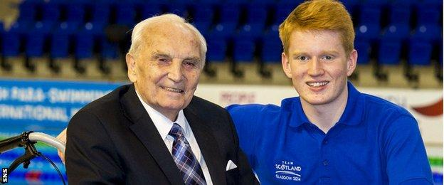 Sir Peter Heatly with grandson James