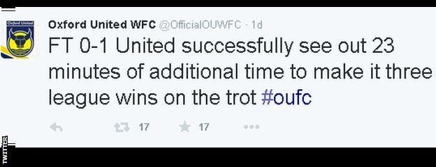 Oxford United Women Tweet