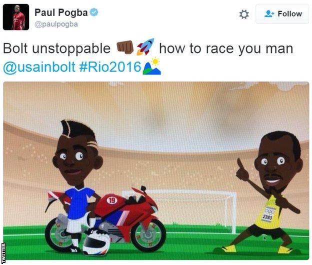 Paul Pogba on Twitter