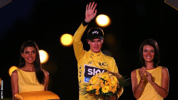 Chris Froome wins his first Tour in 2013