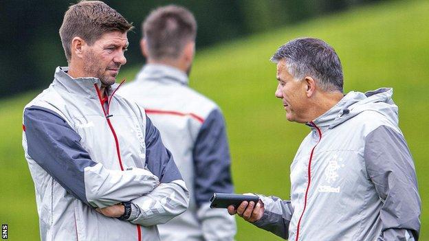Steven Gerrard and Mark Allen