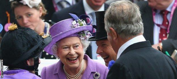 The Queen after Estimate's Gold Cup win in 2013