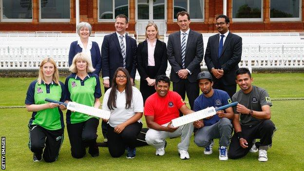 The launch of the ECB's diversity initiative at Lord's