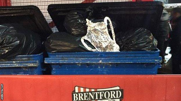 Remember the little lad who made a tin foil FA Cup? Well... it didn't go too well for his Brentford side against Walsall. Unfortunately for him - and us - it was one of the main 'shocks' of the afternoon