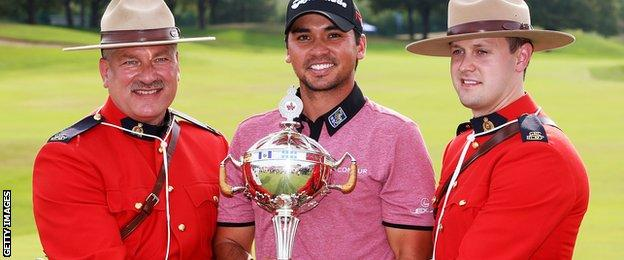 Jason Day with Canadian Open trophy
