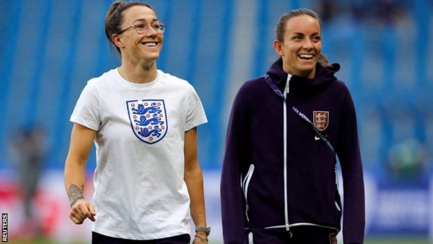 Lucy Bronze and Lucy Staniforth
