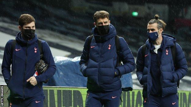 Ben Davies, Joe Rodon and Gareth Bale