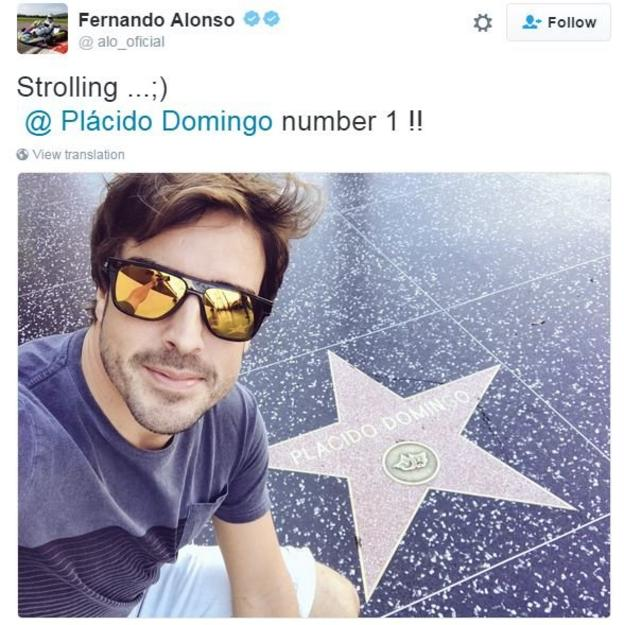 Fernando Alonso in America