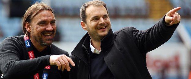 Daniel Farke (left) and Stuart Webber