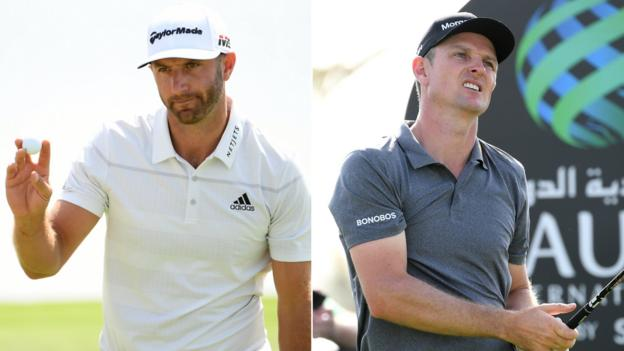 Saudi International: Justin Rose misses cut as Dustin Johnson is three shots clear thumbnail