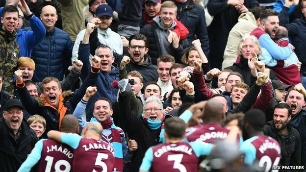 West Ham celebrate goal