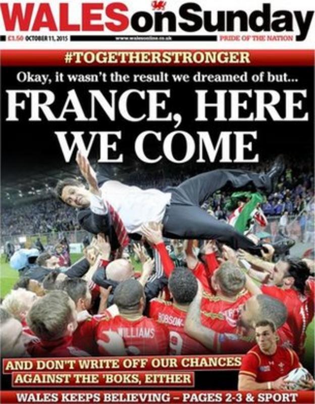 Wales on Sunday back page