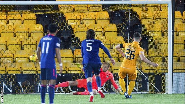 Craig Halkett scored Livingston's first from the spot