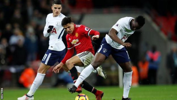 Manchester United and Tottenham
