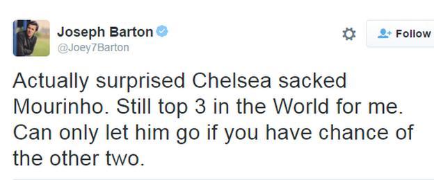 Joey Barton twitter