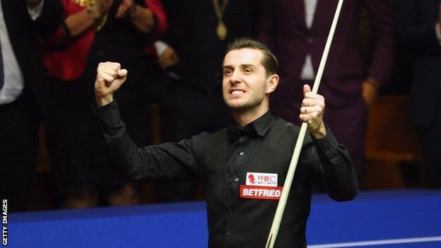 2017 world champion Mark Selby