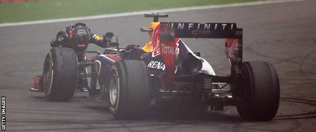 Sebastian Vettel at the 2013 Indian Grand Prix