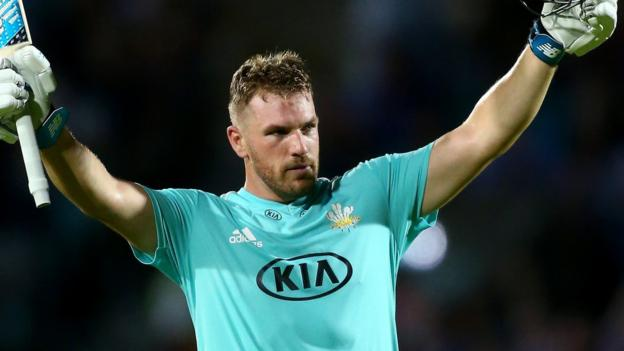 Finch hits century to keep Surrey alive in T20 Blast