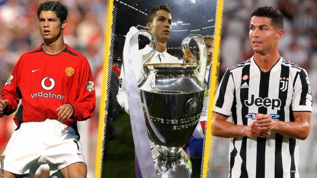 Cristiano Ronaldo at Manchester United, Real Madrid and Juventus