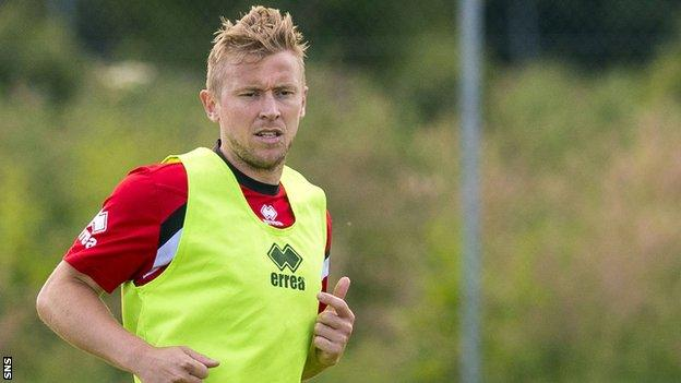 Richie Foran at Caley Thistle training