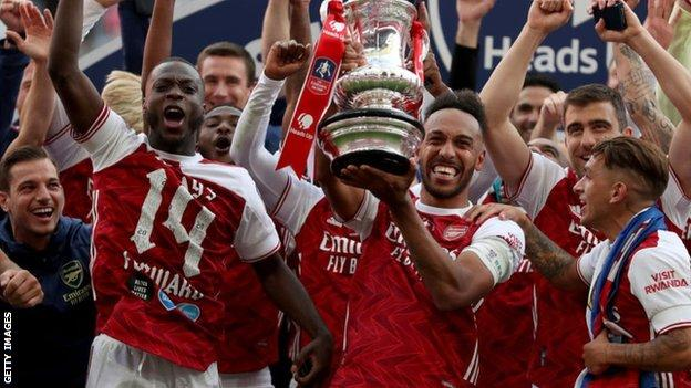 Arsenal lift the 2020 FA Cup trophy earning £3.6m, but next season's winners will earn half that figure.