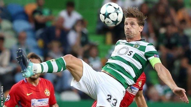 Adrien Silva in action for Sporting Lisbon